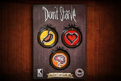 Don't Starve Hunger, Health, and Sanity Metal Pin Set