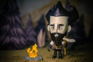 Bearded Survival Wilson Vinyl Figure