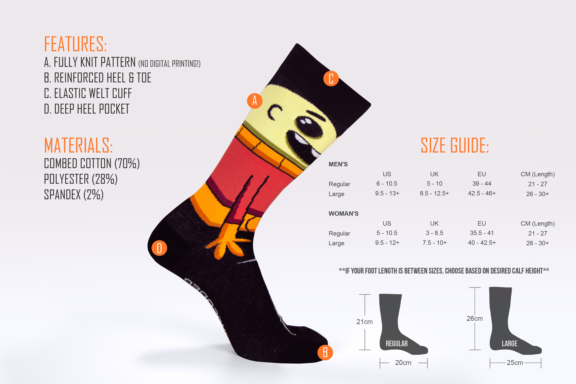 Oxygen Not Included Duplicant Socks